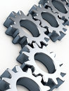 Steel gear wheels Stock Image