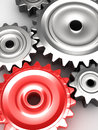 Steel gear wheels d concept Royalty Free Stock Photo