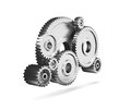 Steel gear wheels tools settings icon Royalty Free Stock Images