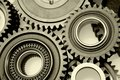 Steel gears Royalty Free Stock Photo