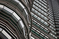 Steel and glass abstract petronas towers view Stock Photography
