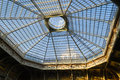 Steel and glass roof structure Royalty Free Stock Photo