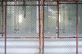 Steel grating and door background photo stock Royalty Free Stock Photo