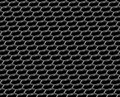 Steel grid hexagonal holes reflection black diagonal view industrial abstract textured seamless background Stock Photography