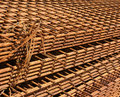 Steel grids industries backgrounds structure Royalty Free Stock Photography