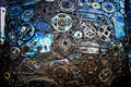 Steel junk in the factory Royalty Free Stock Photo