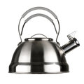 Steel kettle isolated white background Royalty Free Stock Photos