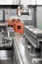 Steel manufacturing industry detail of automatic machine cad cam Stock Image