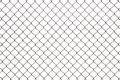 Steel mesh wire fence isolated Royalty Free Stock Photo