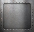 Steel metal frame with rivets Royalty Free Stock Photo