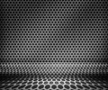 Steel Metal Hex Grid Background Stock Image