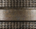 Steel metal plate background or backdrop Royalty Free Stock Image