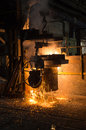 In a steel mill Royalty Free Stock Photo