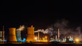 Steel mill blasting furnaces Royalty Free Stock Photo