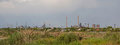 Steel mill factory panorama Royalty Free Stock Photo