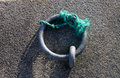 Steel mooring ring detail of or iron Royalty Free Stock Photo
