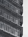 Steel pattern Architecture detail Facade design Modern building Exterior Royalty Free Stock Photo
