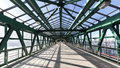 steel pedestrian bridge Royalty Free Stock Photo