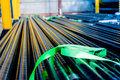 Steel pipes with anti corrosion covering small size for gas network Royalty Free Stock Photos