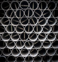 Steel pipes dirty background Royalty Free Stock Photos