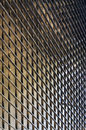 Steel Plate on facade of modern building Royalty Free Stock Photo