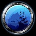 Steel porthole Royalty Free Stock Photo
