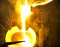 Steel pouring Stock Image