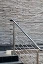 Steel railings, stone walls Royalty Free Stock Photo