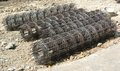 Steel rebar component in a construction site Stock Image