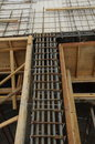 Steel reinforcement bar to be part of the building structures selangor malaysia – april bars arranged and tied before pouring Stock Photography