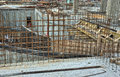 Steel reinforcement bars on the construction site Stock Photography