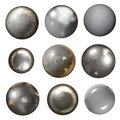 Steel rivet heads collection isolated on white Stock Photography