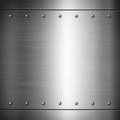 Steel riveted brushed plate texture background metal frame background Royalty Free Stock Images