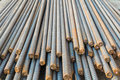 Steel rods or bars Royalty Free Stock Photo