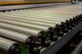 Steel roller conveyer Royalty Free Stock Photo
