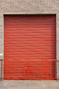 Steel Rolling Door Stock Photo