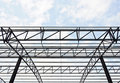 Steel roof Stock Image