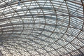 Steel roof structure modern building Stock Photos