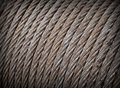 Steel rope texture Royalty Free Stock Photo
