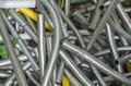 Steel Scrap iron scrap material  recycle Royalty Free Stock Photo