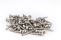 Steel Self-Drilling Screws with flange, truss, oven, stove head Royalty Free Stock Photo