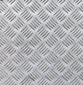 Steel sheet with diamond pattern Royalty Free Stock Photo