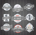 Steel shopping labels Royalty Free Stock Images