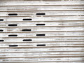 Steel shutter door Stock Image