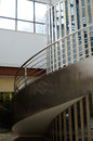 Steel spiral stairs the made of stainless in a modern building at chengdu china Stock Photos