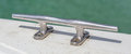 Steel stake of yacht or boat close up for mooring Royalty Free Stock Image