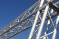 Steel structure on blue sky Royalty Free Stock Photo
