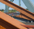Steel structure of a bridge Royalty Free Stock Photos