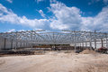 Steel structure construction site Stock Image