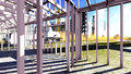 Steel structure construction site Royalty Free Stock Image